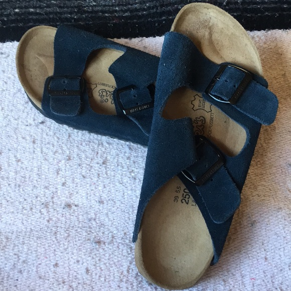 837b70a334e Birkenstock Shoes - Unisex Suede Navy Blue Birkenstocks!
